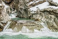 Der Rhein (Roffla-Schlucht, Schweiz)